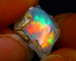 7.50Ct Multi Color Play Ethiopian Welo Opal Rough G1702