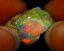 7.60Ct Multi Color Play Ethiopian Welo Opal Rough G1706