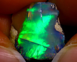5.85Ct Multi Color Play Ethiopian Welo Opal Rough G1710