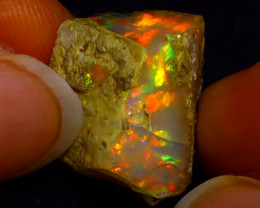 13.58Ct Multi Color Play Ethiopian Welo Opal Rough G1712