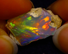 6.30Ct Multi Color Play Ethiopian Welo Opal Rough G1715
