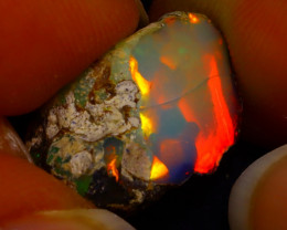 7.72Ct Multi Color Play Ethiopian Welo Opal Rough G1719