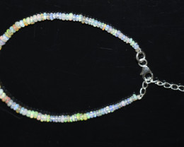 13.20 CT OPAL BRACELET MADE WITH NATURAL ETHIOPIAN BEADS STERLING SILVER OB
