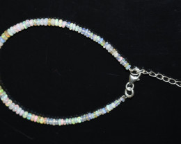 13.00 CT OPAL BRACELET MADE WITH NATURAL ETHIOPIAN BEADS STERLING SILVER OB