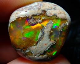 14.84ct Mexican Matrix Cantera Multicoloured Fire Opal