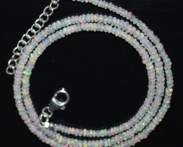 OPAL NECKLACE MADE WITH NATURAL ETHIOPIAN BEADS STERLING SILVER A-20