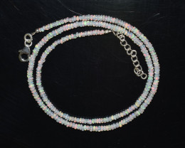 OPAL NECKLACE MADE WITH NATURAL ETHIOPIAN BEADS STERLING SILVER A25