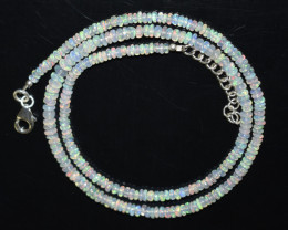 OPAL NECKLACE MADE WITH NATURAL ETHIOPIAN BEADS STERLING SILVER A-29
