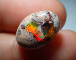 11.14ct Mexican Matrix Cantera Multicoloured Fire Opal