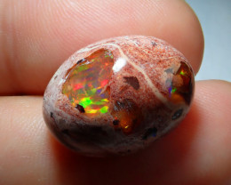 15.68ct Mexican Matrix Cantera Multicoloured Fire Opal
