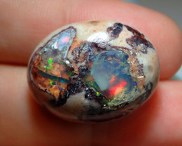 37.72ct Mexican Matrix Cantera Multicoloured Fire Opal