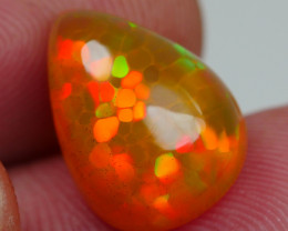 4.410 CRT BEAUTIFULL MICRO HONEYCOMB FIRE PLAY COLOR WELO OPAL