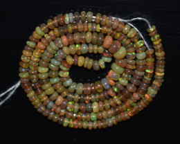 25.90 Ct Natural Ethiopian Welo Opal Beads Play Of Color OB1022