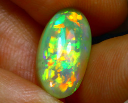 Welo Opal 3.44Ct Natural Ethiopian Play of Color Opal JN20