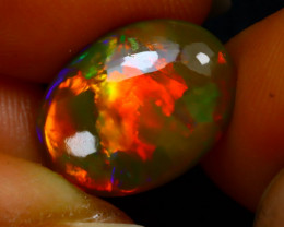 Welo Opal 3.60Ct Natural Ethiopian Play of Color Opal G2118/A44