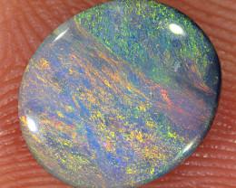 0.9ct 9x8mm Solid Lightning Ridge Dark Opal [LO-2117]
