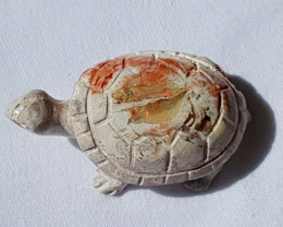 Turtle Mexican Multicoloured Fire Opal Figurine