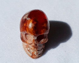 Skull Mexican Multicoloured Fire Opal Figurine
