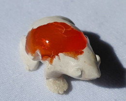 Frog Mexican Multicoloured Fire Opal Figurine