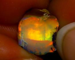 4.34Ct Multi Color Play Ethiopian Welo Opal Rough F2214/R2