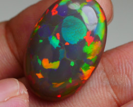13.755 CRT RARE! DARK BASE NEON PATCHWORK FULL COLOR WELO OPAL*