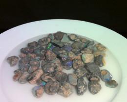 640cts virgin material, lightning ridge black opal nobby parcel