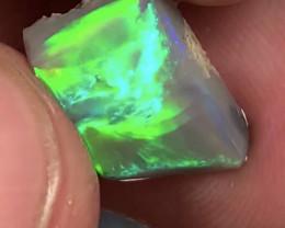 Straw Pattern & Rolling Flash Bright Green Opal Rub