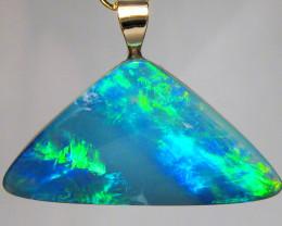 Australian Genuine Opal Pendant 14k Gold Doublet 6.55ct