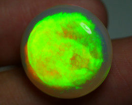 17.125 CRT RARE! ULTRA BRIGHT ROUND  ELECTRIC NEON DOUBLE SIDE WELO OPAL*