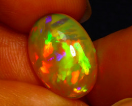 Welo Opal 4.15Ct Natural Ethiopian Play of Color Opal JN53