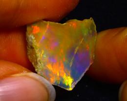 7.57Ct Multi Color Play Ethiopian Welo Opal Rough JN57