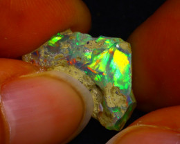 7.73Ct Multi Color Play Ethiopian Welo Opal Rough JN62