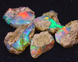 30.50Ct Multi Color Play Ethiopian Welo Opal Rough JN176
