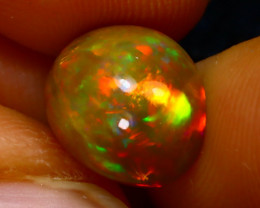Welo Opal 3.42Ct Natural Ethiopian Play of Color Opal J2502/A44