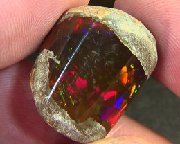 50.40 cts Ethiopian Mezezo PATCHWORK CELLS dark polished opal N3 4,5/5