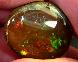 33.70 cts Ethiopian Mezezo PUZZLE CELLS dark polished opal N3 4/5