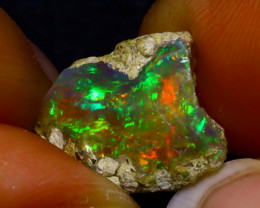 6.39Ct Multi Color Play Ethiopian Welo Opal Rough JN82