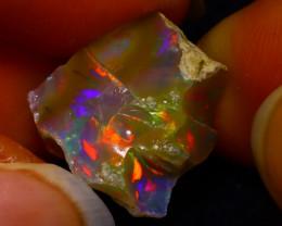 7.72Ct Multi Color Play Ethiopian Welo Opal Rough JN86