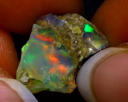 5.72Ct Multi Color Play Ethiopian Welo Opal Rough JN88