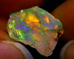 5.84Ct Multi Color Play Ethiopian Welo Opal Rough JN89