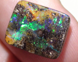 5.90 ct Beautiful Gem Multi Color Queensland Boulder Opal