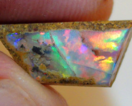 2.70 ct $1 NR Gem Boulder Opal Wood Pipe Rough Rub Opal