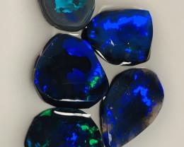 BLACK OPALS*** BLUE ON BLACK RUBS#3583