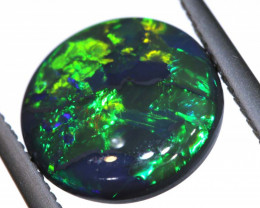 N1 -  3.73CTS QUALITY BLACK OPAL POLISHED STONE  INV-OPM-214