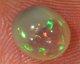 1.25ct 7.5x6.5mm Solid Lightning Ridge Crystal Opal [LO-2139]