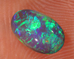 0.7ct 7.5x4.8mm Solid Lightning Ridge Dark Crystal Opal [LO-2146]