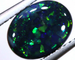 N1 -  1.27 CTS QUALITY BLACK OPAL POLISHED STONE  INV-OPM-140