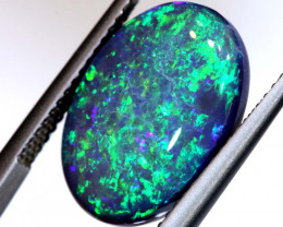N4 -  8.03CTS QUALITY BLACK OPAL POLISHED STONE  INV-OPM-493-5