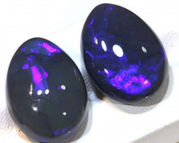 N3 -  22.96CTS QUALITY BLACK OPAL POLISHED STONE PARCEL  INV-OPM-940