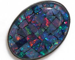 6.2 Cts australian Mosaic tripelt Opal OPJ 3026